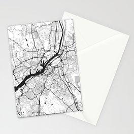 Gothenburg Map Gray Stationery Cards
