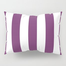 Palatinate purple - solid color - white vertical lines pattern Pillow Sham
