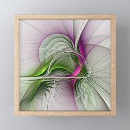 Wild Beauty, Abstract Fractal Art Framed Mini Art Print