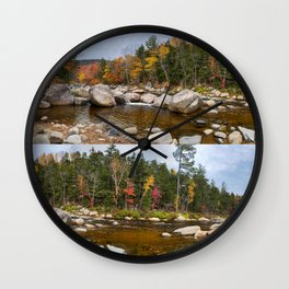 Lower Falls Foliage (1) Wall Clock