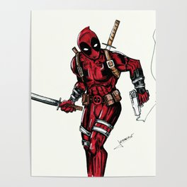 Wade Wilson. Merc with a mouth Poster
