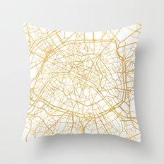 PARIS FRANCE CITY STREET MAP ART Throw Pillow