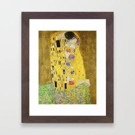 The Kiss - Gustav Klimt, 1907 Framed Art Print