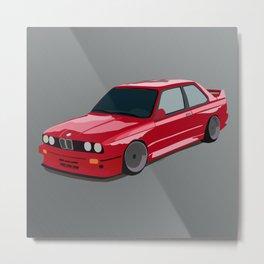 Red drift car Metal Print