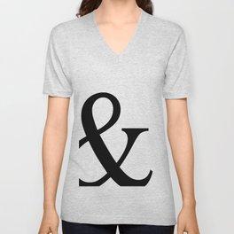Typography, Ampersand, And Sign Unisex V-Neck