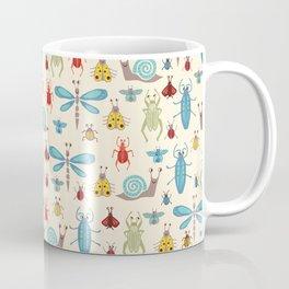 Little Bugs & Mini Beasts on Cream Coffee Mug