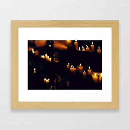 Temple Candles Framed Art Print