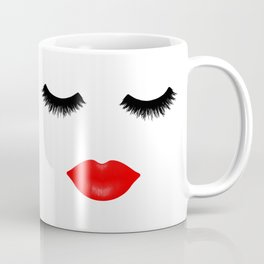 Lips and Lashes Coffee Mug