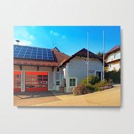 The firestation of Eidenberg Metal Print
