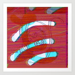 Set Me Free #glitch #art Art Print