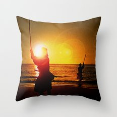 Duel at Ganryu Island - Miyamoto Musashi Throw Pillow