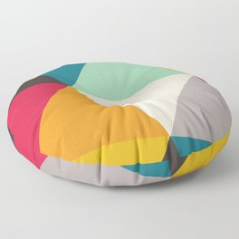 Geometric Triangles Floor Pillow
