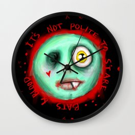 IT'S NOT POLITE TO STARE Wall Clock