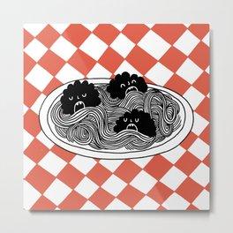 Hungry Hungry Meatballs Metal Print