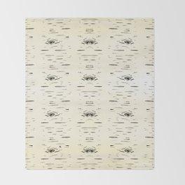 Birchy Gold Throw Blanket
