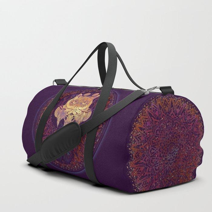 Owl Mandala Duffle Bag