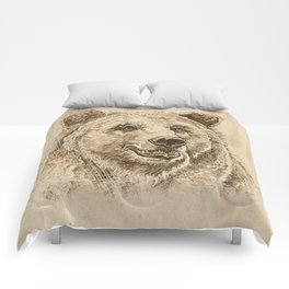 Grizzly Bear Greeting Comforters