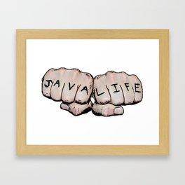 JAVA LIFE Framed Art Print