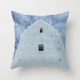 Sand covered Church in Skagen, Denmark Throw Pillow