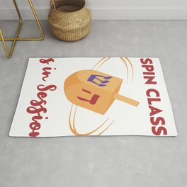 Spin Class Is In Session, Funny Happy Hanukkah Rug