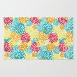Floral seamless pattern, looks like fantasy flowers Rug
