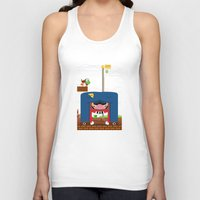 mario Tank Tops featuring Mario by Ryan Miller