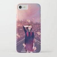 letter iPhone & iPod Cases featuring letter by Juli Gm