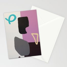 Untitled (couples' yoga #1) Stationery Cards