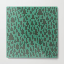 Pacific Northwest Forest Pattern Metal Print