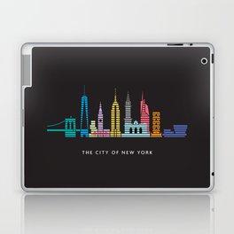 New York Skyline One WTC Poster Black Laptop & iPad Skin