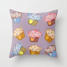 Muffins - pattern Throw Pillow