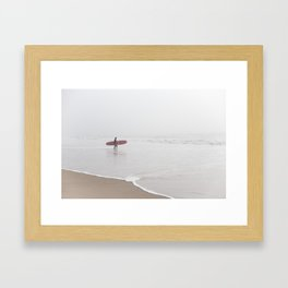Contemplating Waves Framed Art Print