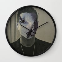 depeche mode Wall Clocks featuring Gahan ,  the  Depeche  Monster   by SZILVIO KOLLÁZS