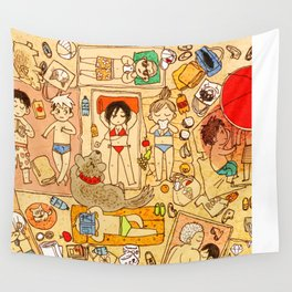 Attack on beach Wall Tapestry