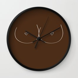 Boobs - Dark Brown Wall Clock