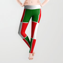 TEAM COLORS 3.... red, green Leggings