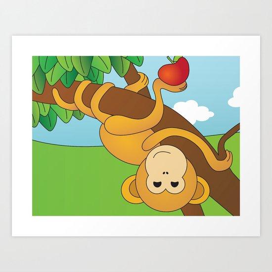 Cute Monkeys Part B Art Print