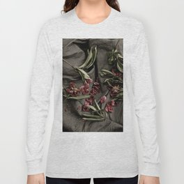 """Peonies are beautiful from the """"bud to to the end."""" Long Sleeve T-shirt"""