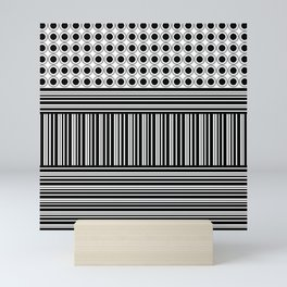 Circles and Barcode Mini Art Print
