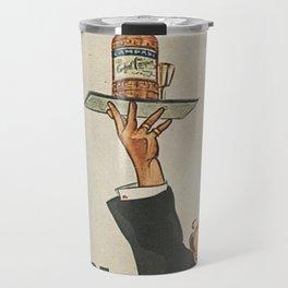 Vintage 1920 Cordial Campari Advertisement by Luigi Caldanzano Travel Mug