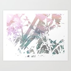 Colors Between and Through Art Print