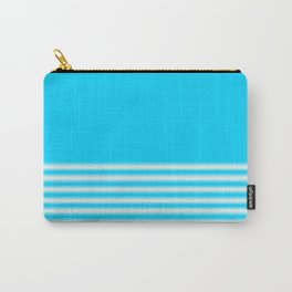 Blue Gradient Stripe Carry-All Pouch