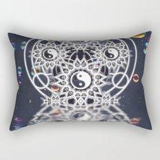 Yin Yang Symmetry Balance Reflection Rectangular Pillow