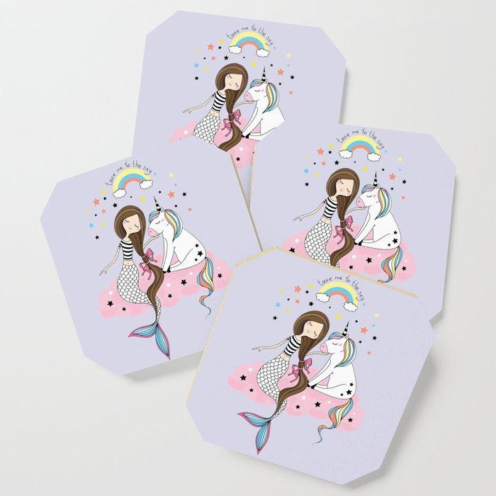 Mermaid & Unicorn Coaster
