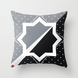 London - star graphic Throw Pillow