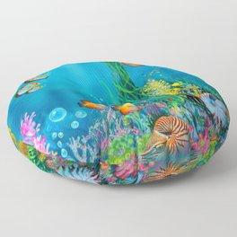 Undersea with Nautilus Floor Pillow
