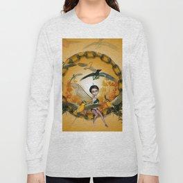 Cute fairy with songbirds Long Sleeve T-shirt