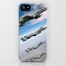BEAUTIFUL AIRPLANE FORMATION iPhone Case