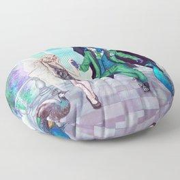 Peacocks Floor Pillow