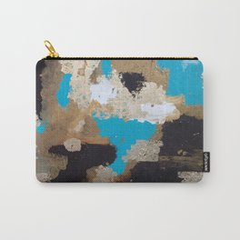 Turquoise and Gold Carry-All Pouch